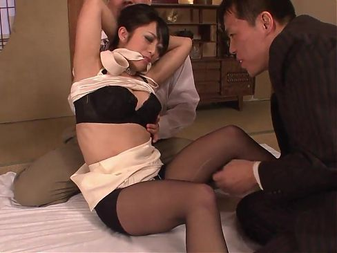 Classy beauty gets had threesome fuck after dinner
