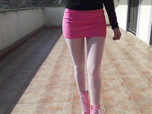 Laura on Heels 2021. Walk outside in 8 inches heels