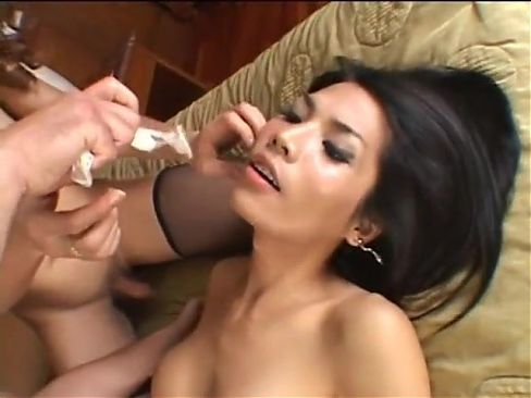Two sexy Filipino Ladyboys and one horny guy threesome sex