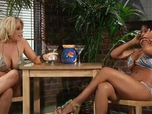 Nina and Heather doing some naughty stuff.